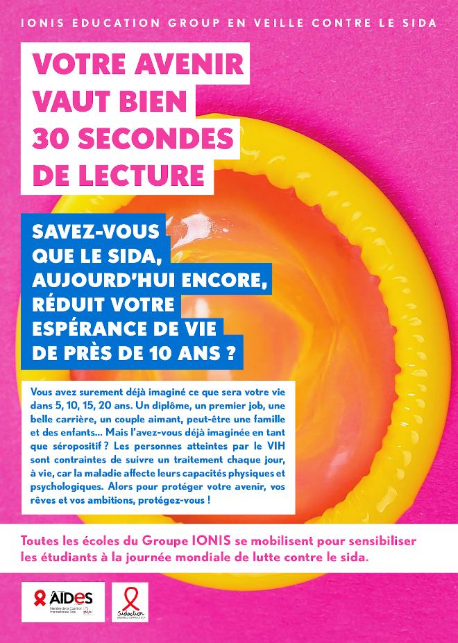IONIS en veille contre le sida : 30 secondes pour continuer le combat