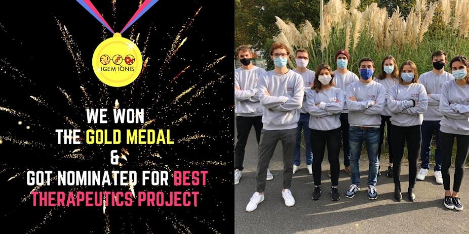 Concours iGEM 2020: une médaille d'or et une nomination pour l'équipe iGEM IONIS!