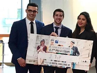 L'équipe de Melissa Sari (Ionis-STM promo 2016) termine sur le podium du Digital Challenge by Banque Populaire Rives de Paris