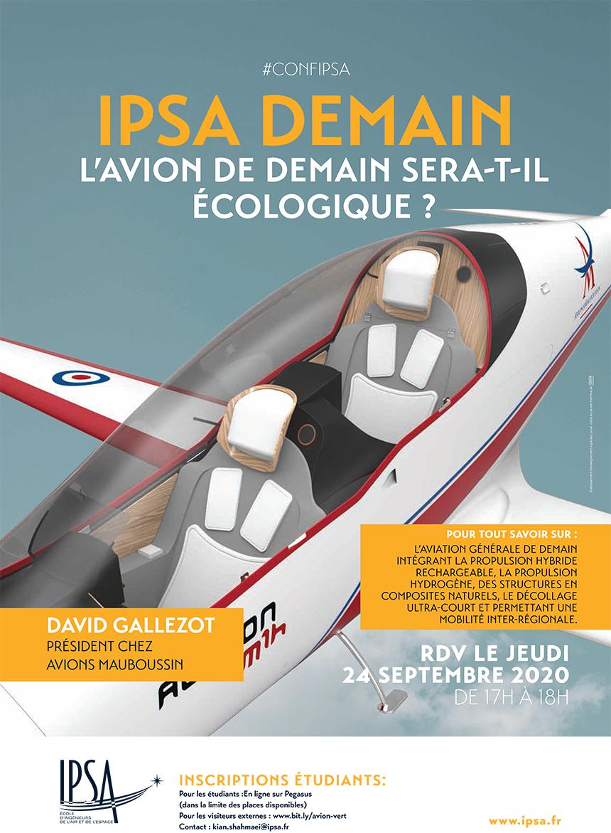 IPSA Demain présente : « L'avion de demain sera-t-il écologique ? »