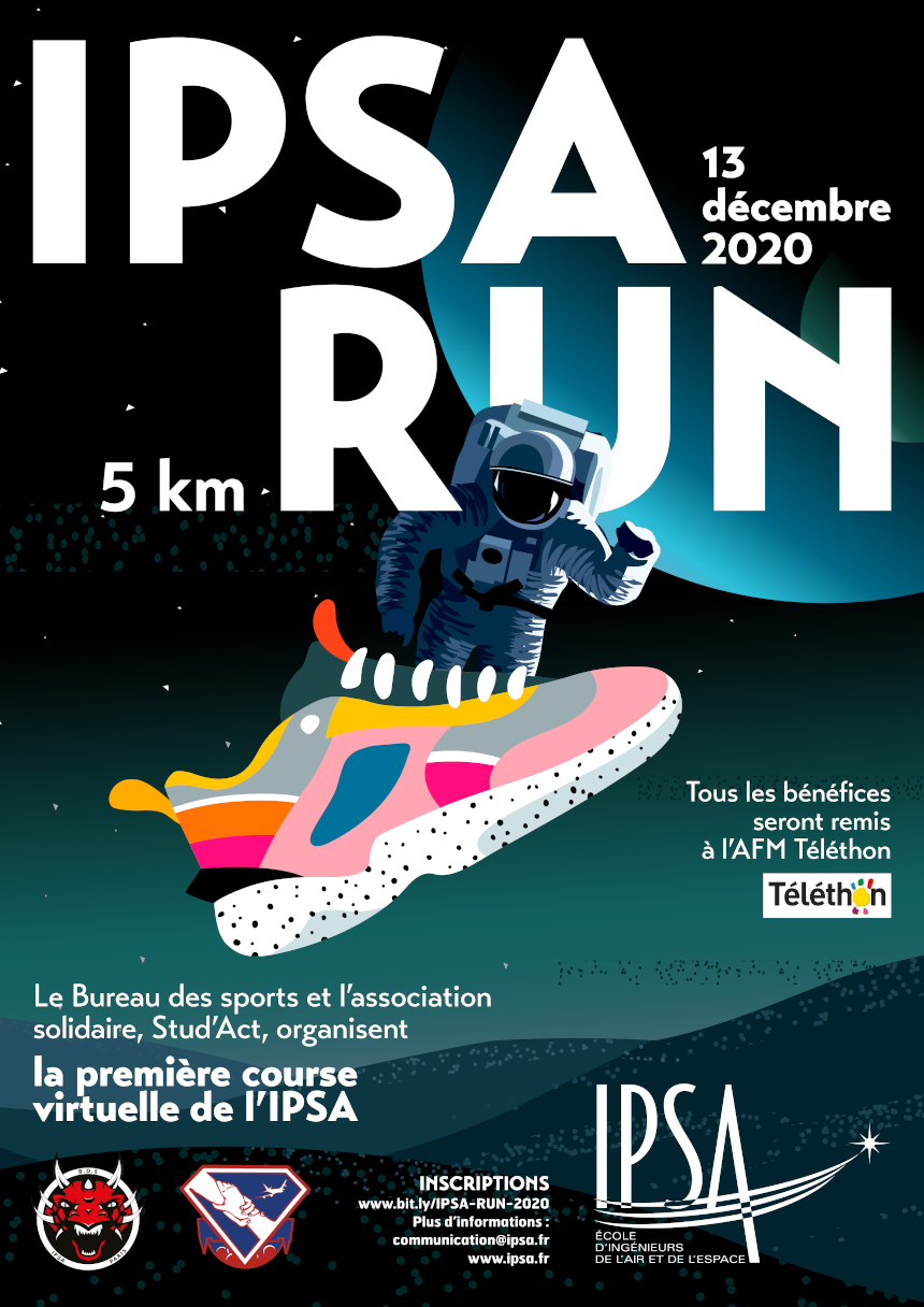 Une course virtuelle pour la bonne cause: participez à l'IPSA RUN, dimanche 13 décembre