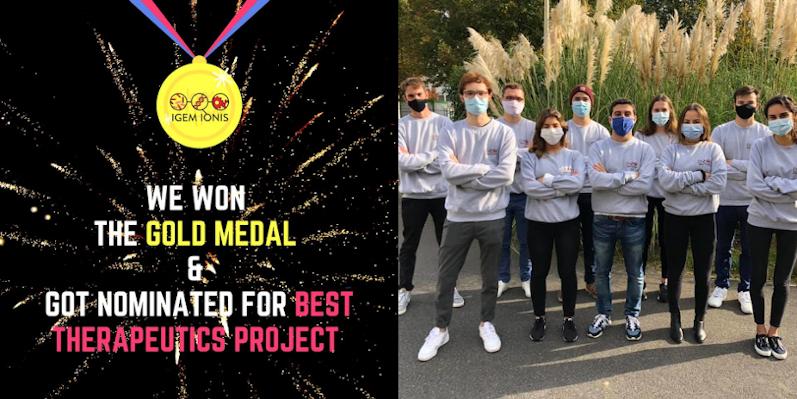 Concours iGEM 2020 : une médaille d'or et une nomination pour l'équipe iGEM IONIS !